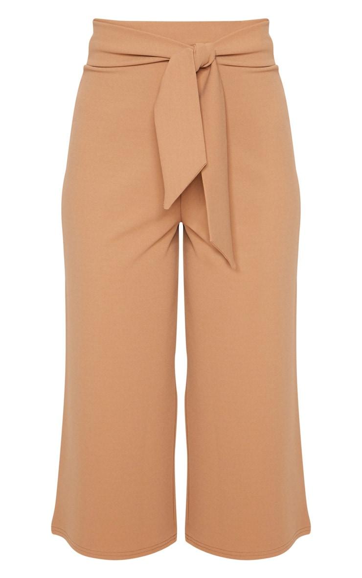 Stone Crepe Tie Front Culottes 3