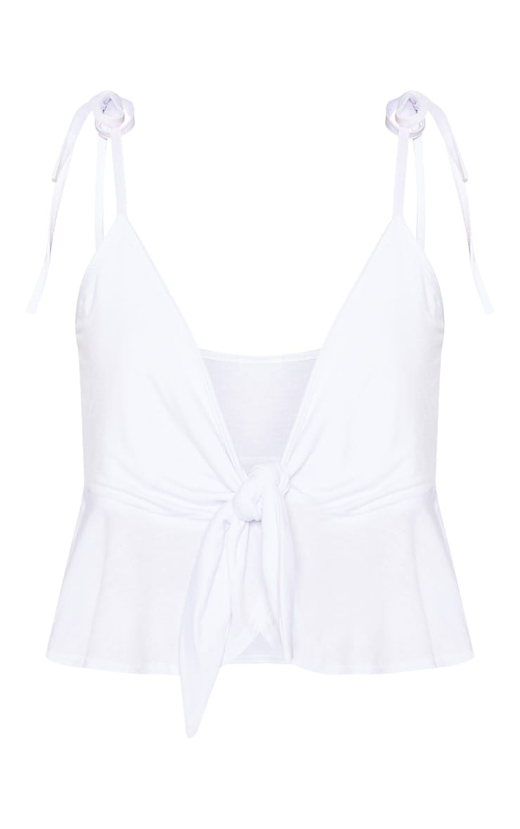 White Jersey Frill Detail Cami  3
