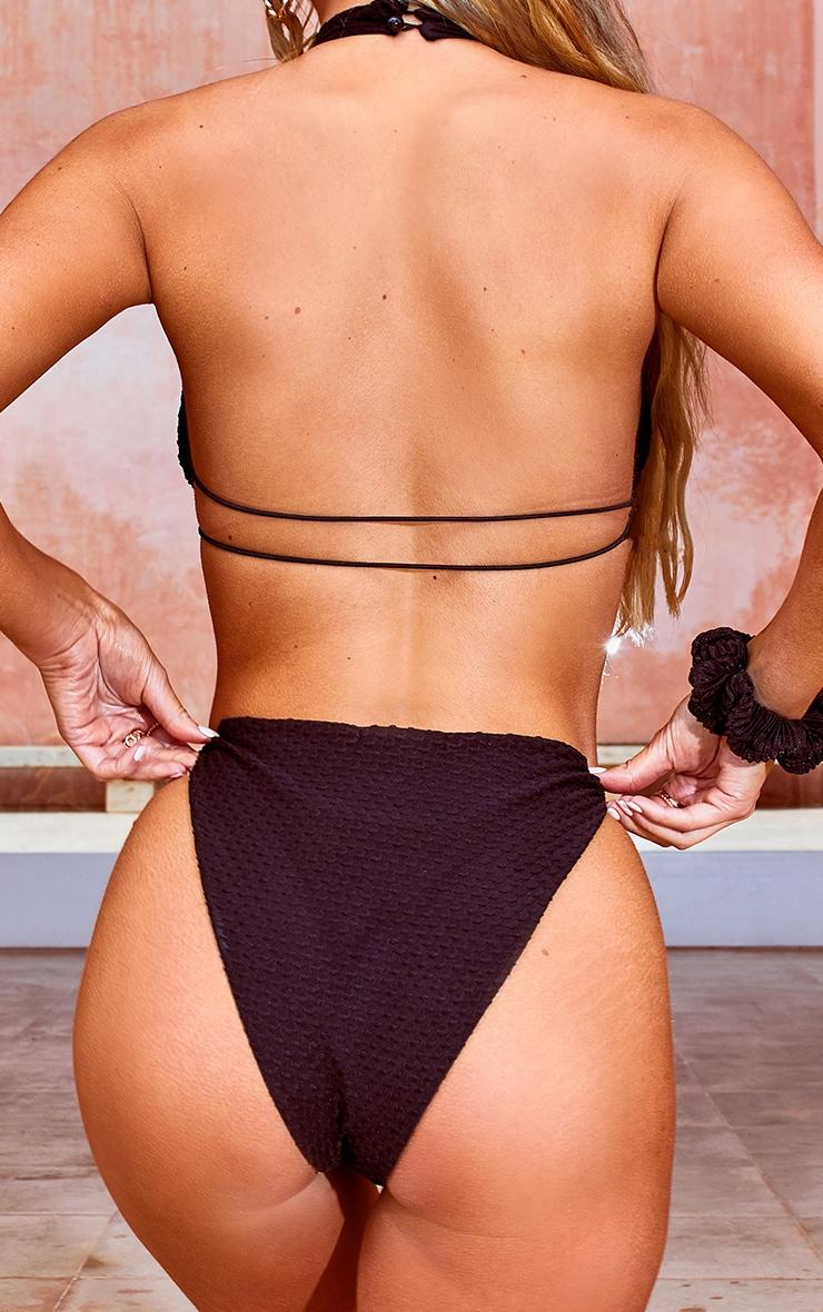 Black Waffle Texture Bikini Bottoms 3