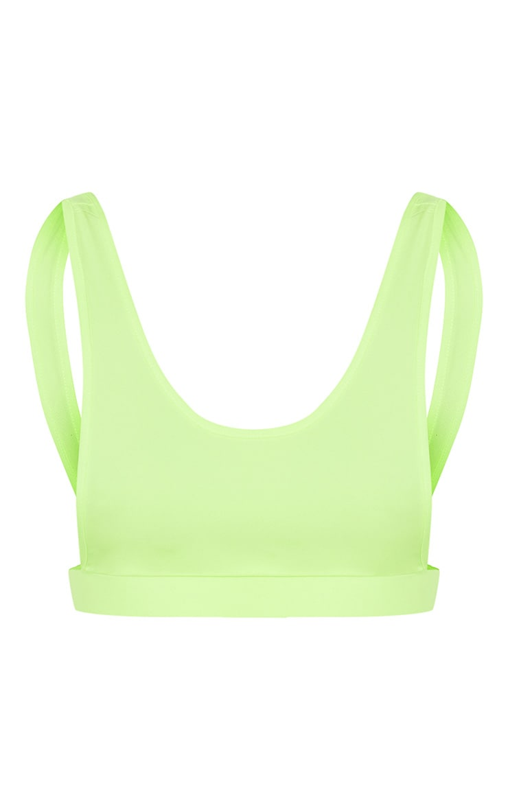 Lime Side Boob Scoop Neck Bikini Top 3