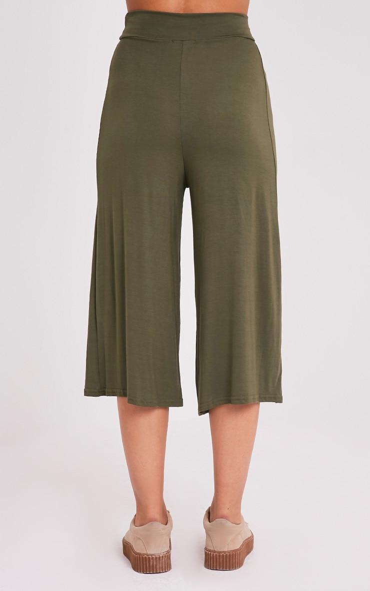 Basic jupe-culotte kaki 5