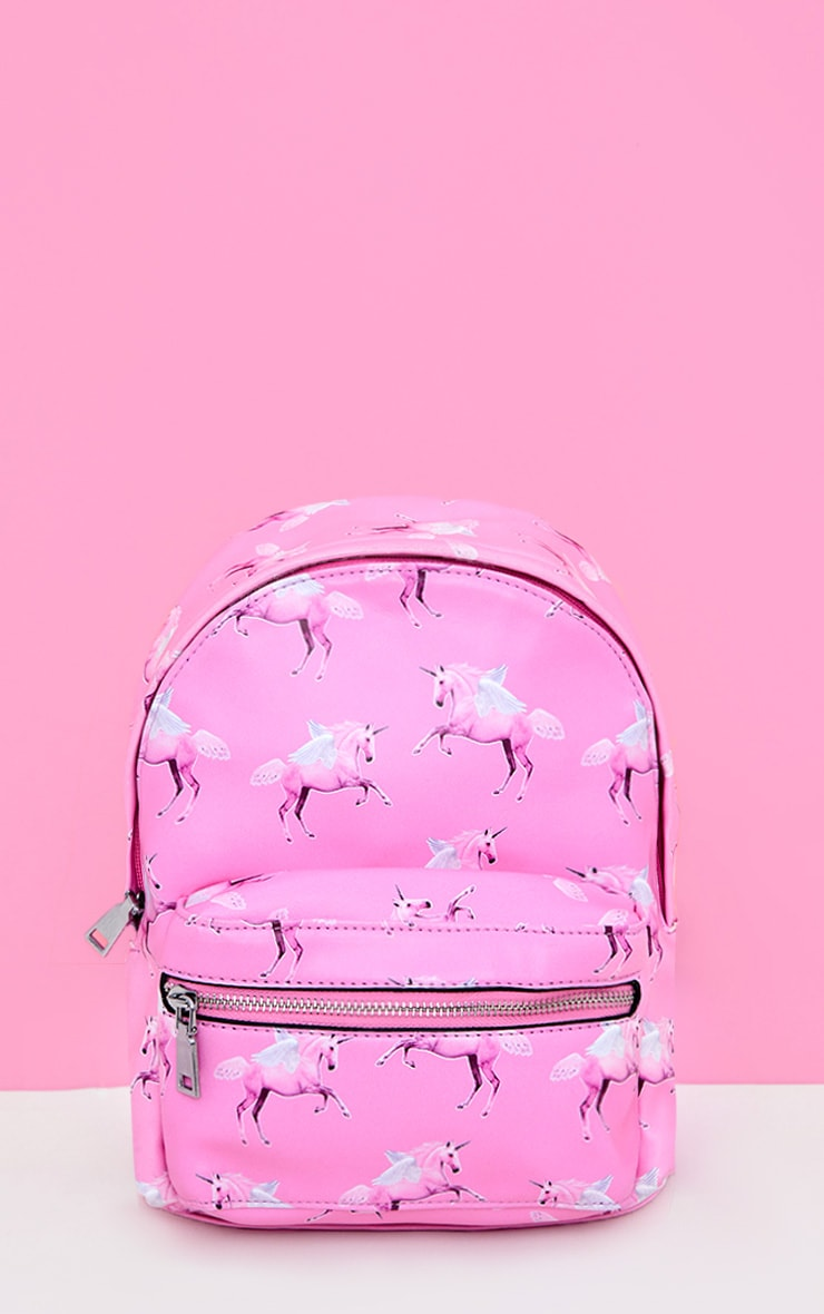 PLT Unicorn Pink PU Backpack 1