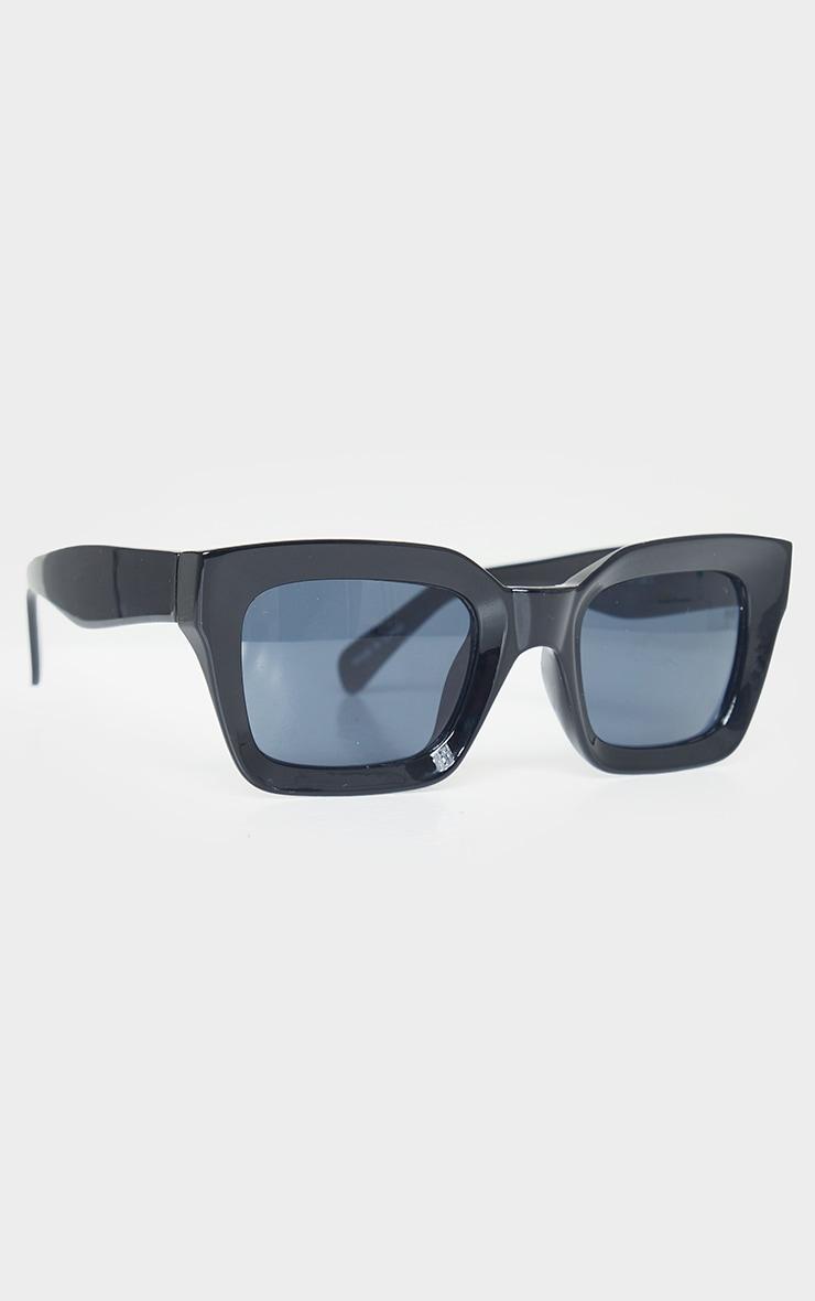 Black Square Frame Oversized Sunglasses 2
