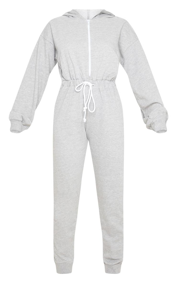 Combinaison en sweat gris à capuche et manches longues 3