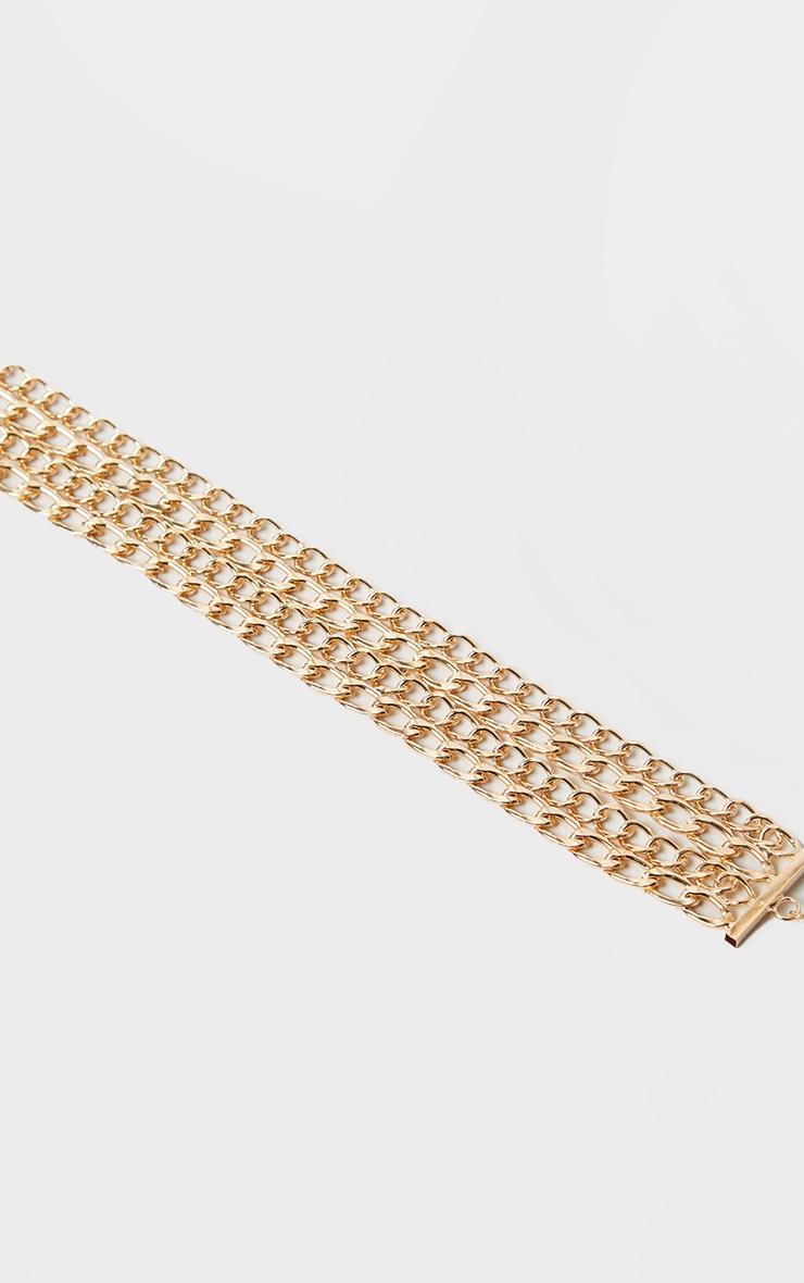Gold Chunky 4 Row Chain Belt 4