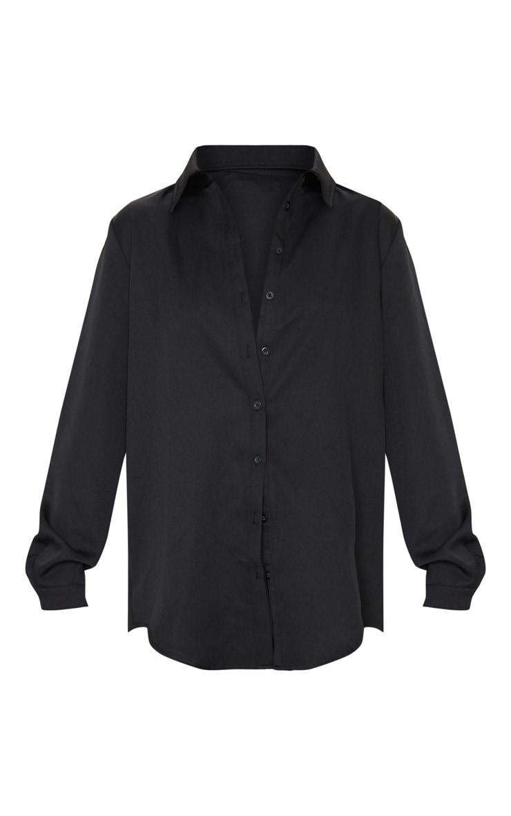 Black Oversized Long Sleeve Shirt 5