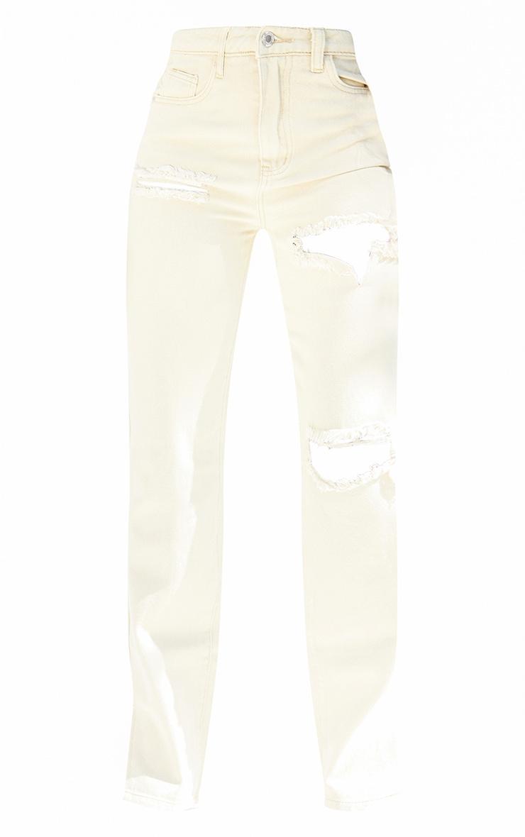 Tall  Stone Tall  Wash Ripped Split Hem Jeans 5