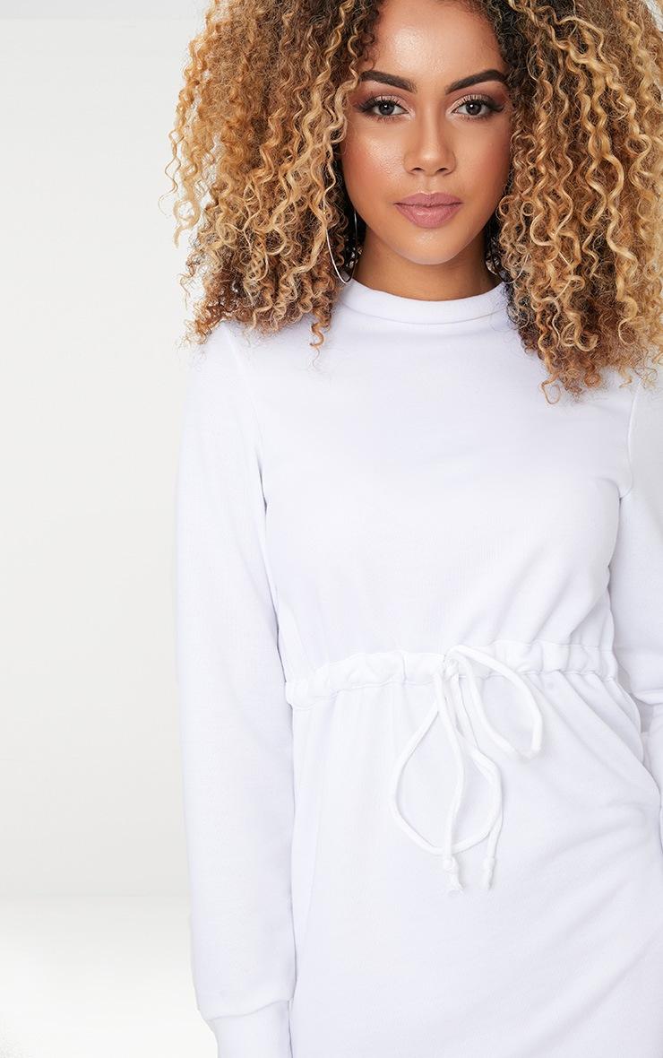 White Tie Waist Sweater Dress 3