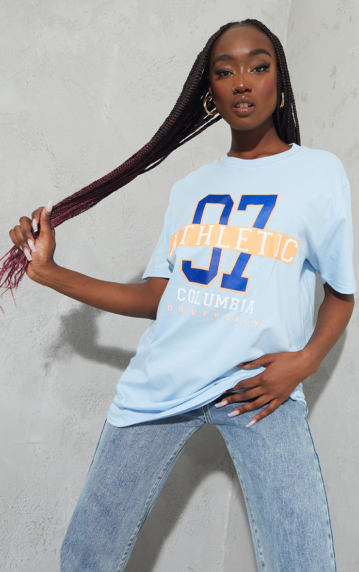 Baby Blue 97 Athletic Slogan T Shirt 3