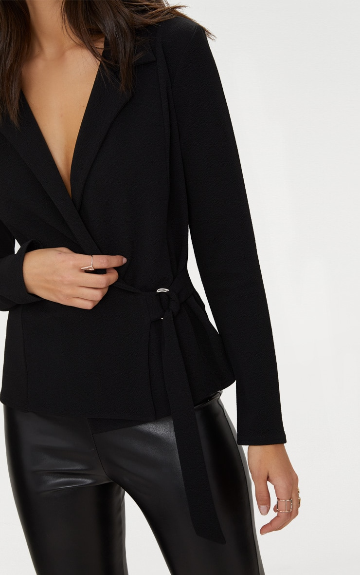 Black Wrap Side D-Ring Blazer 5