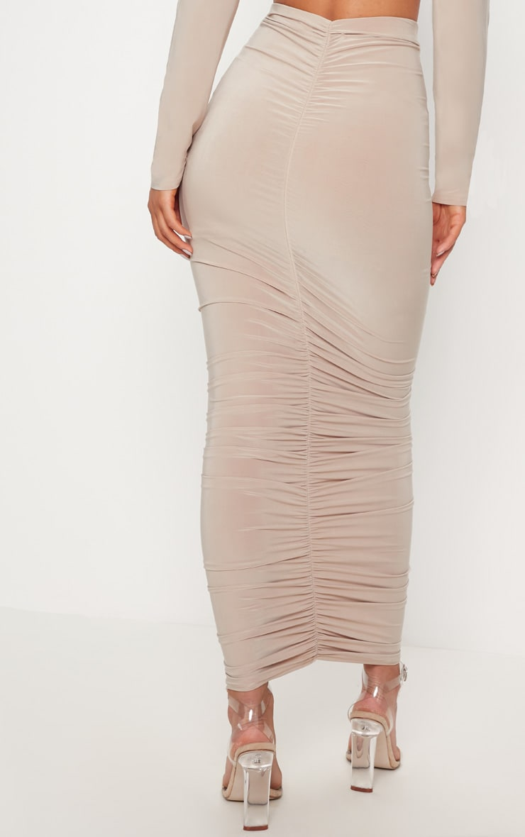 Stone Ruched Detail Midaxi Skirt 4