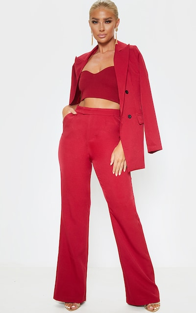 Wine Flared Trouser