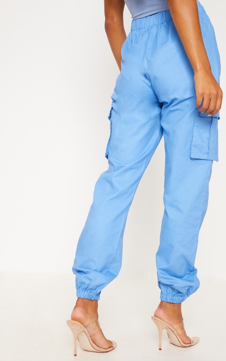 Blue Pocket Detail Cargo Pants 5