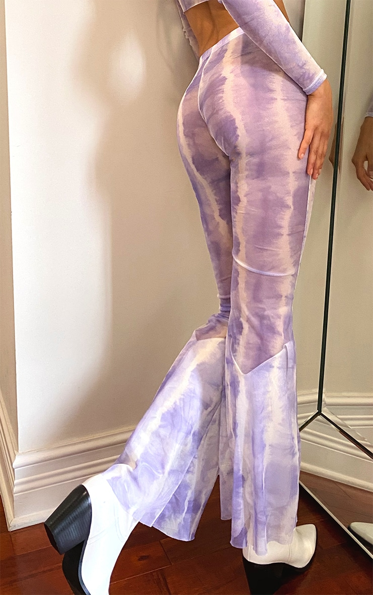 Tall Purple Tie Dye Mesh Flares 3