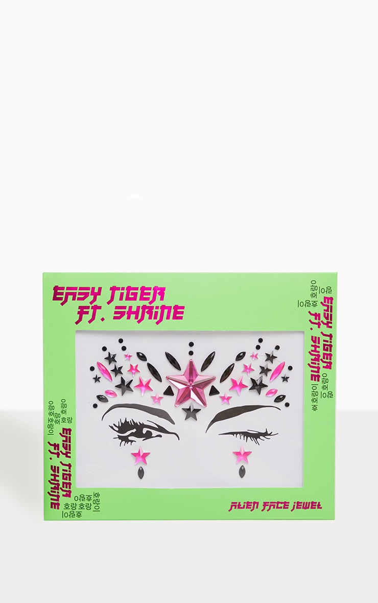The Gypsy Shrine - Bijou de visage rose fluo alien 1