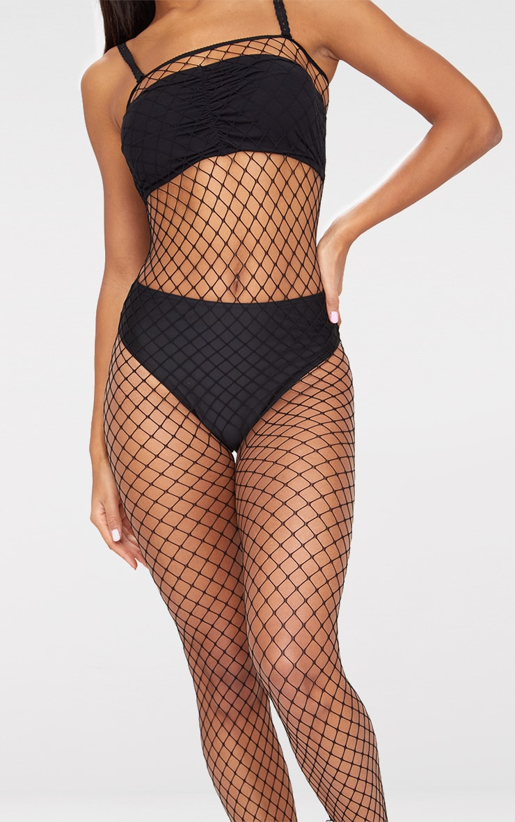 Black Fishnet All In One Body Stocking 5