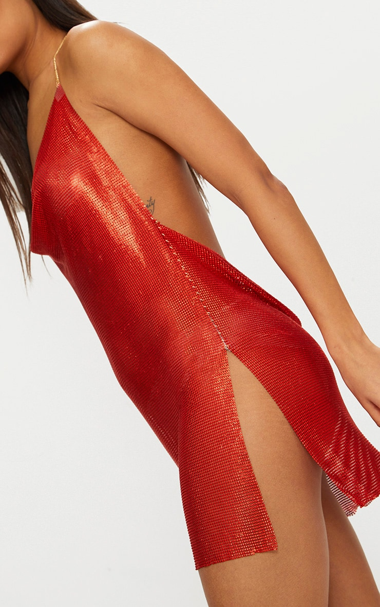 Red Chainmail Dress 4