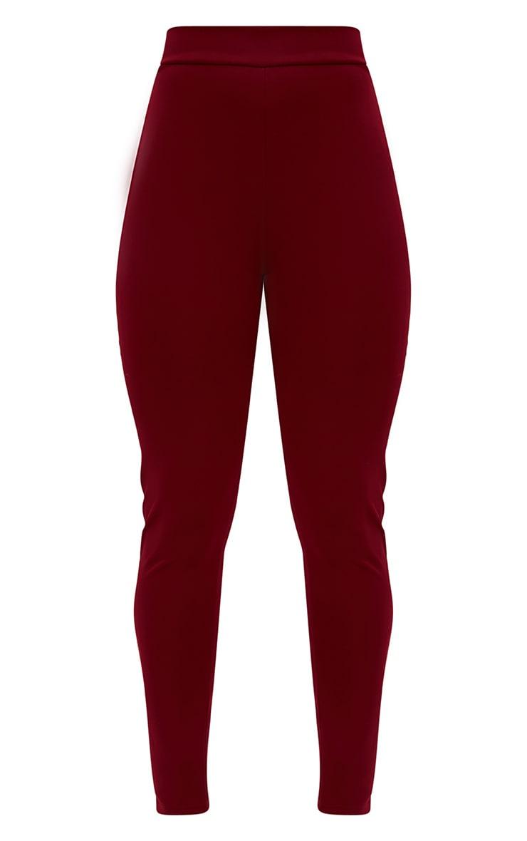 Burgundy Sporty Stripe Leggings 3