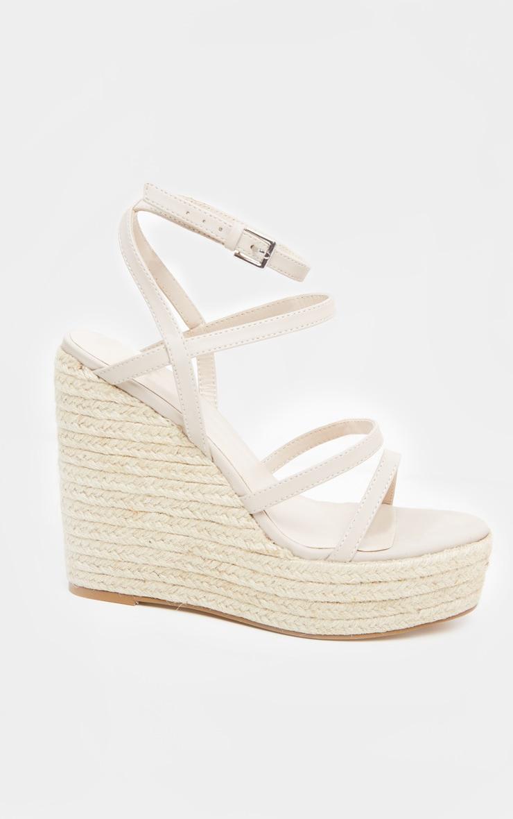Sandales compensées nude à brides 4