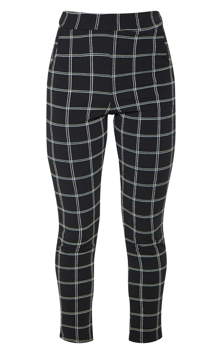 Black Check Skinny Trousers 3