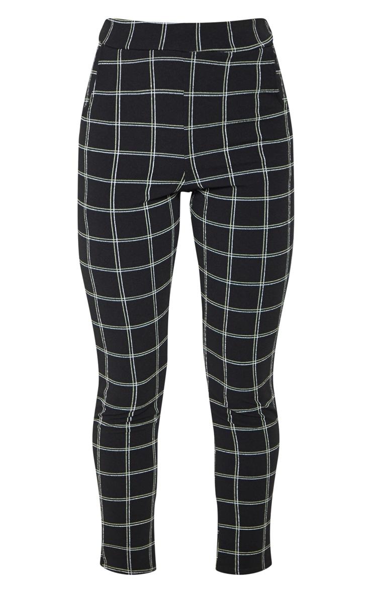 Black Tweed Check Skinny Pants 3