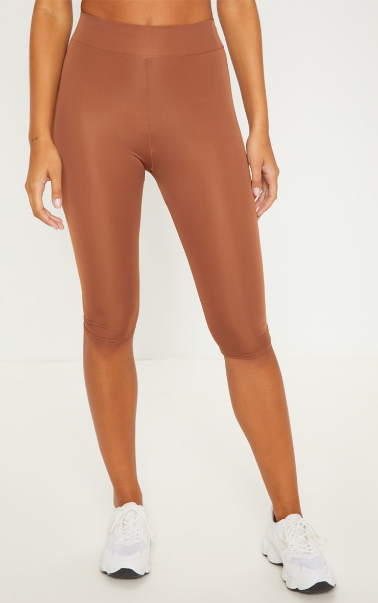 Brown Basic 3/4 Gym Legging 2