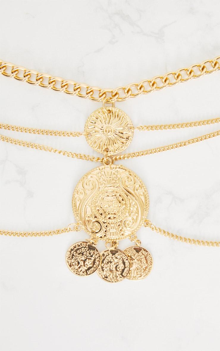 Gold Coin Drop Chain Belt 4