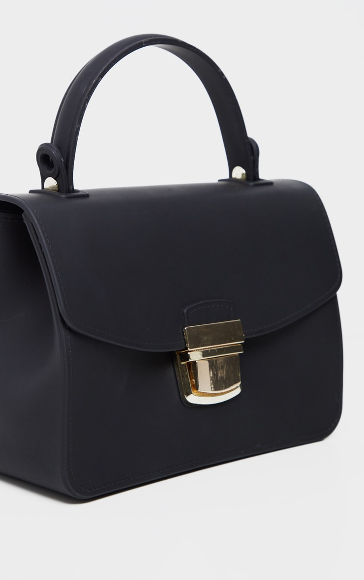 Black Matte Finish Mini Bag 3