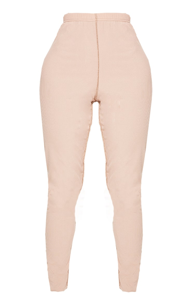 Shape Stone Rib Overlock Seam Detail Split Hem Leggings 5