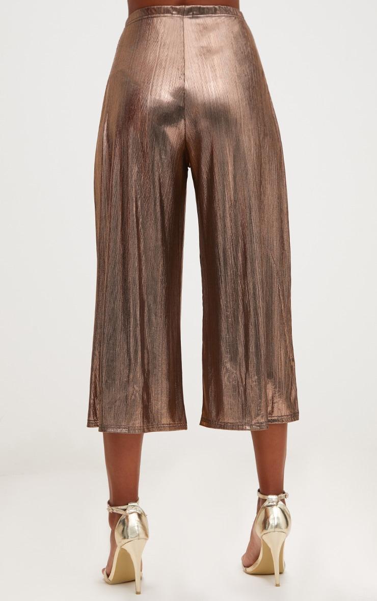 Copper Metallic Culottes 4