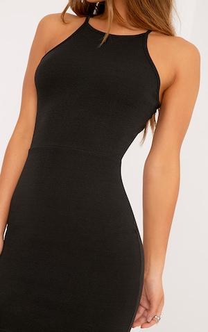 Petite Black High Neck Bodycon Mini Dress  image 5