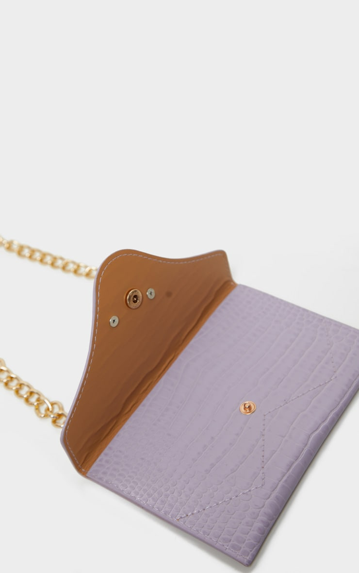Dusty Lilac Dragon Chain Belted Bum Bag 3