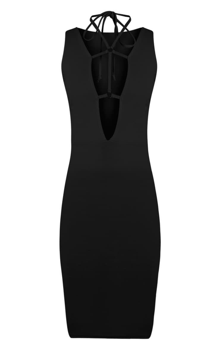 Raynie Black Sleeveless Harness Midi Dress 3