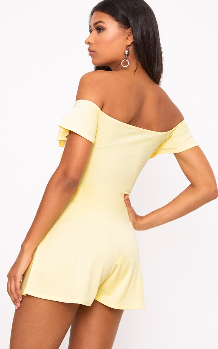 Yellow Bust Bow Playsuit  2