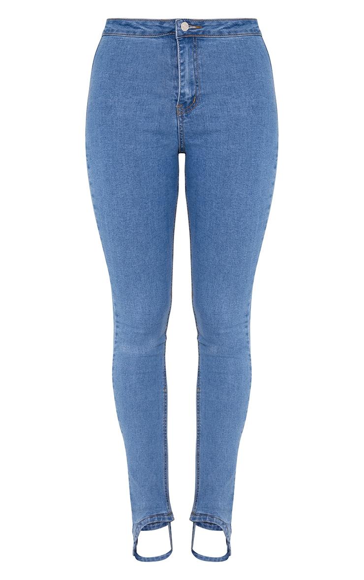 Light Wash Stirrup Skinny Jeans 3