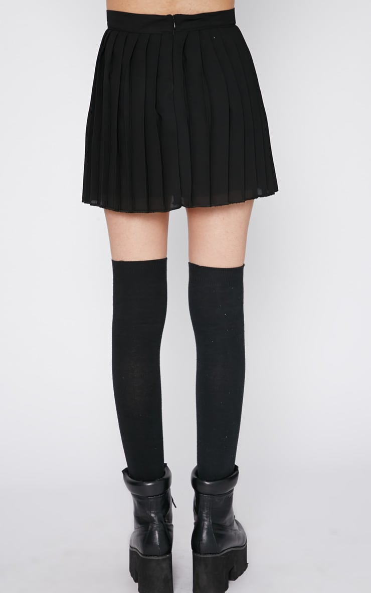 Sinopa Black Pleated Mini Skirt 2