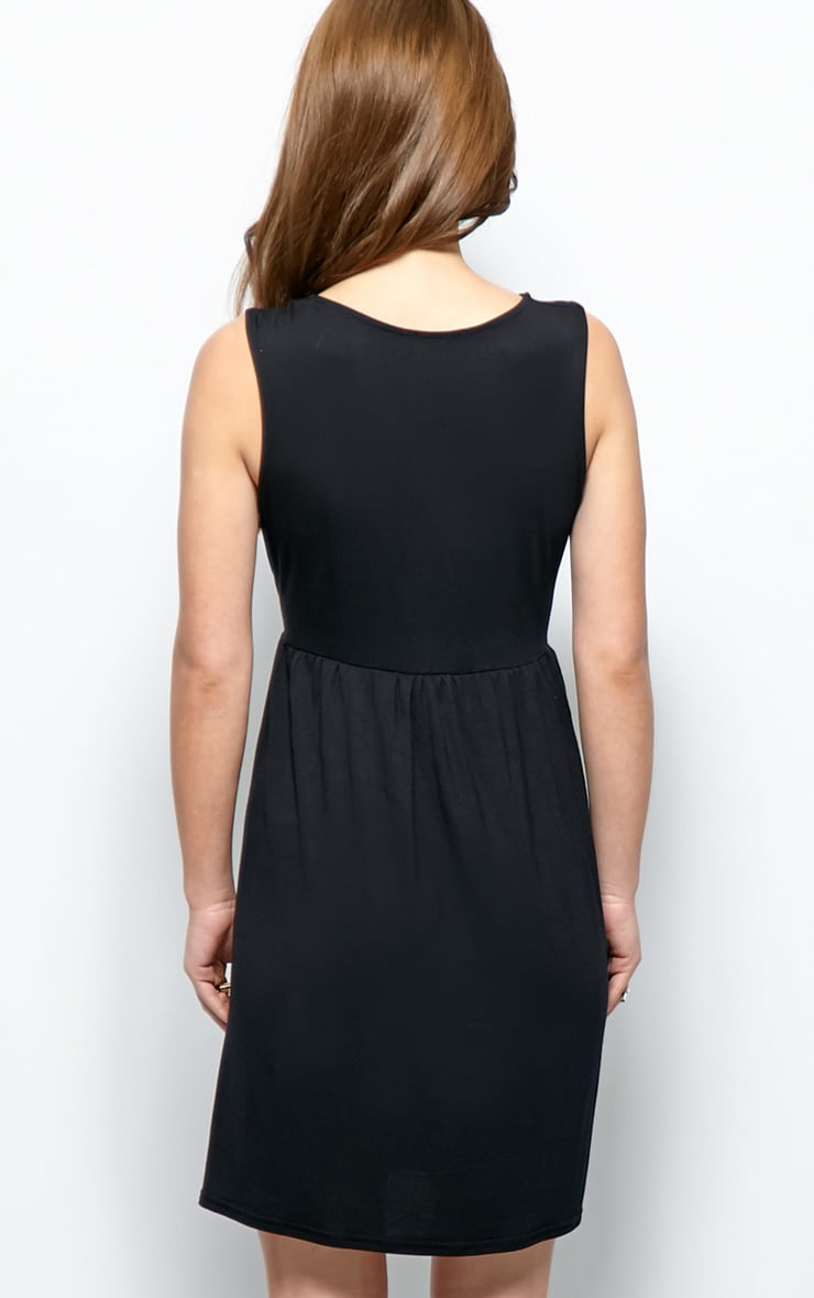 Kirsten Black Sleeveless Smock Dress 2