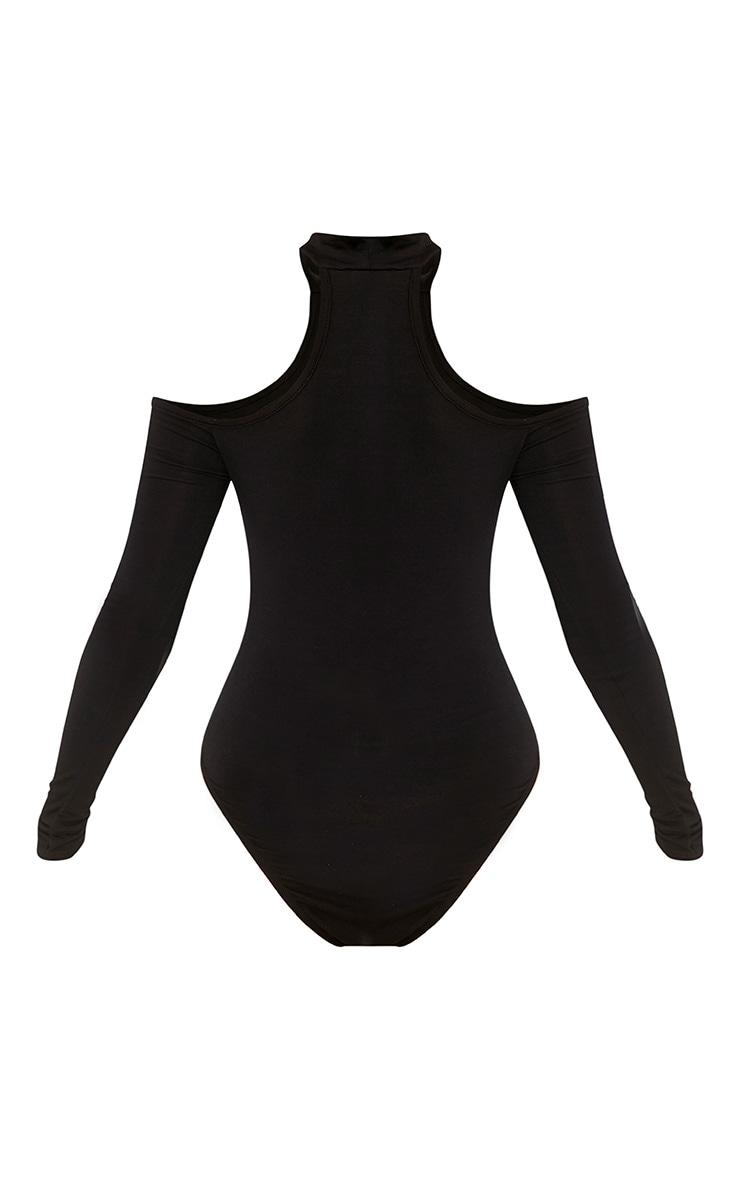 Hazel body noir découpes aux épaules 4