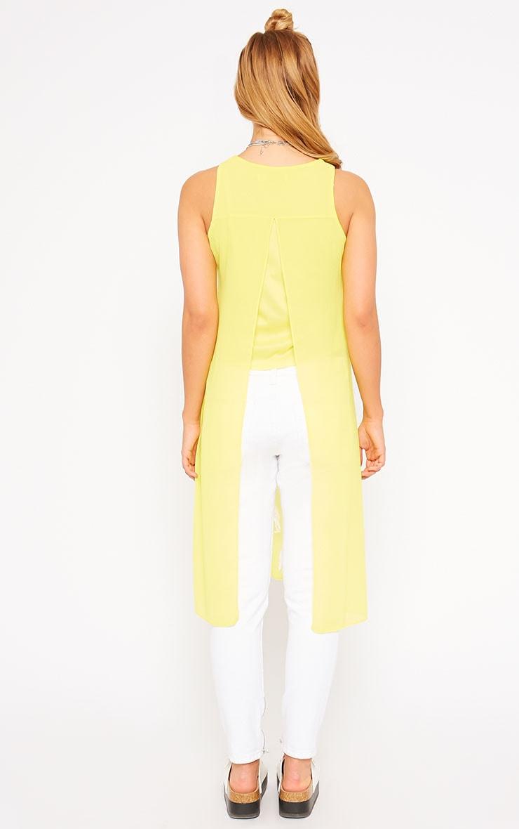 Cecile Yellow Sleeveless Chiffon Top 2