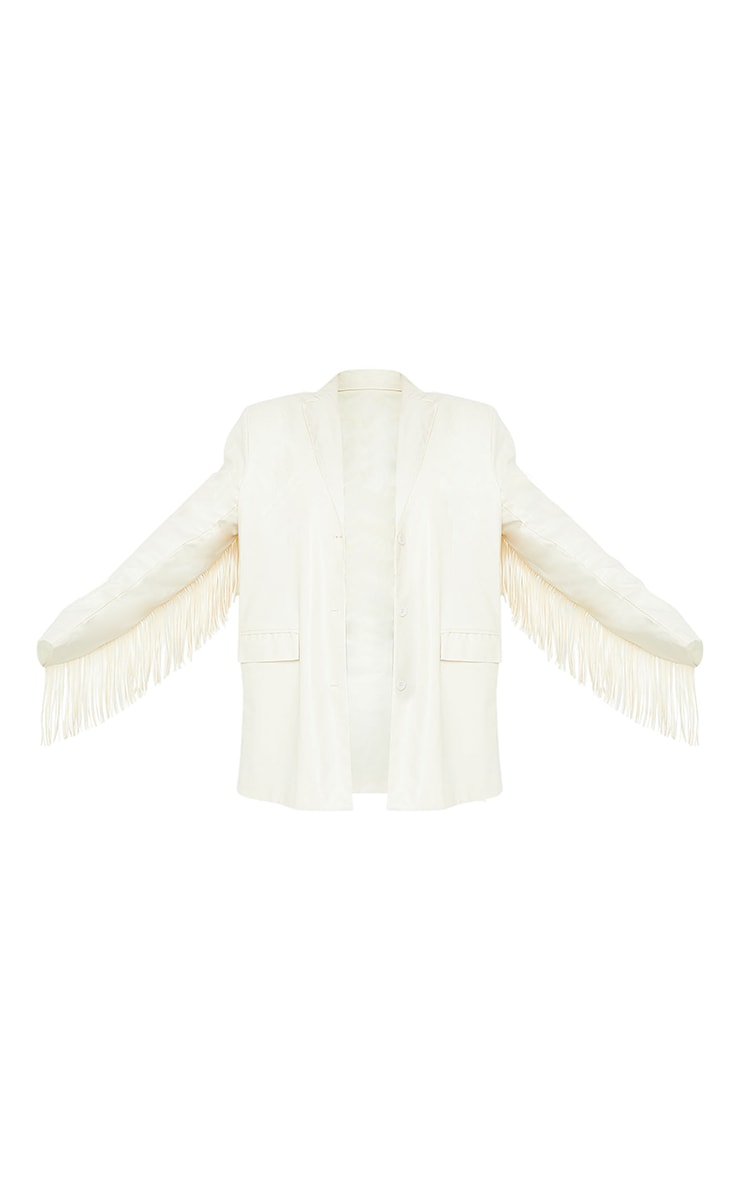 Cream Tassel Back Jacket 5