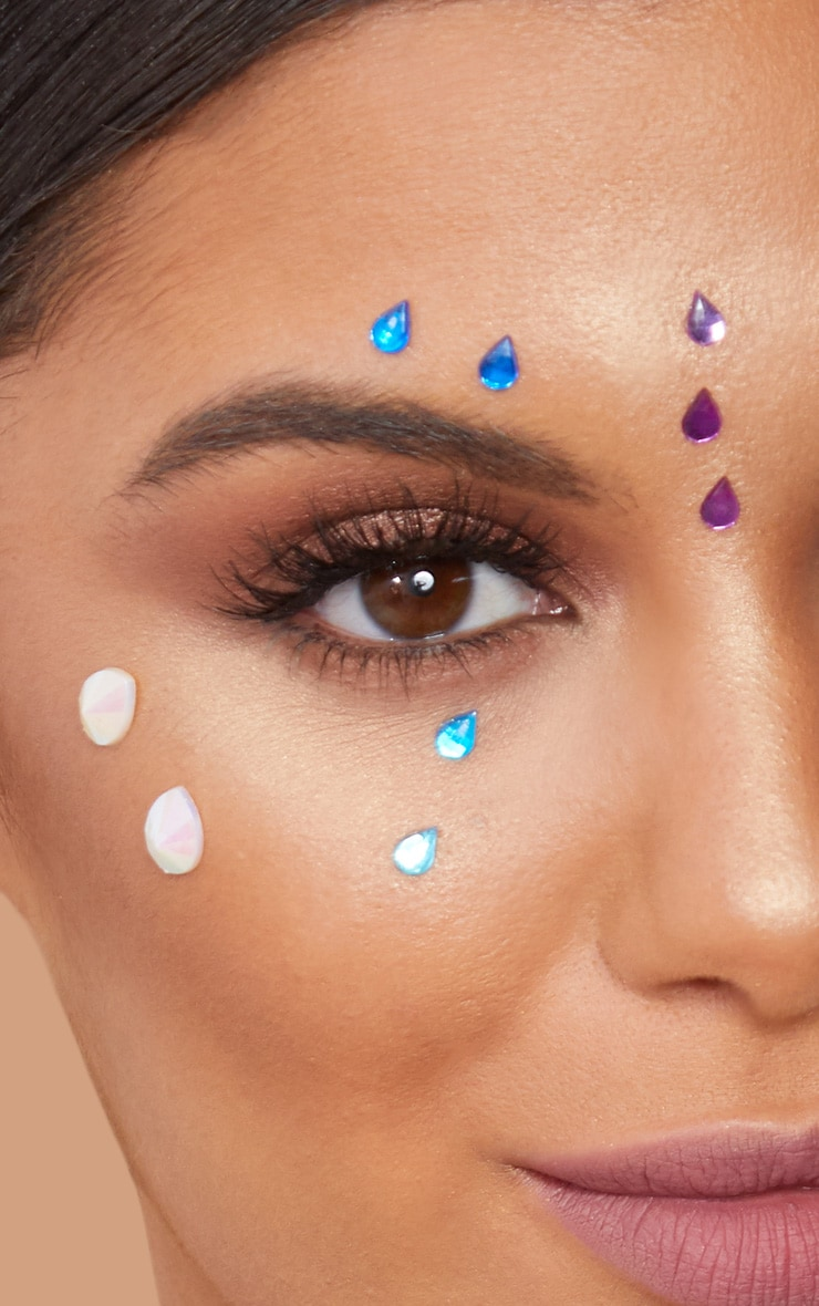 PRETTYLITTLETHING Tear Drop Face Jewels 3