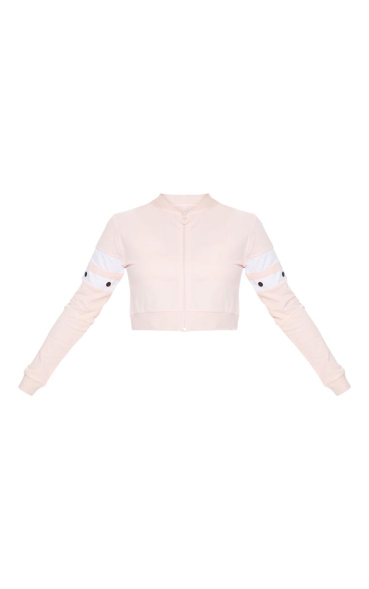 Light Pink Zip Up Crop Jacket 3