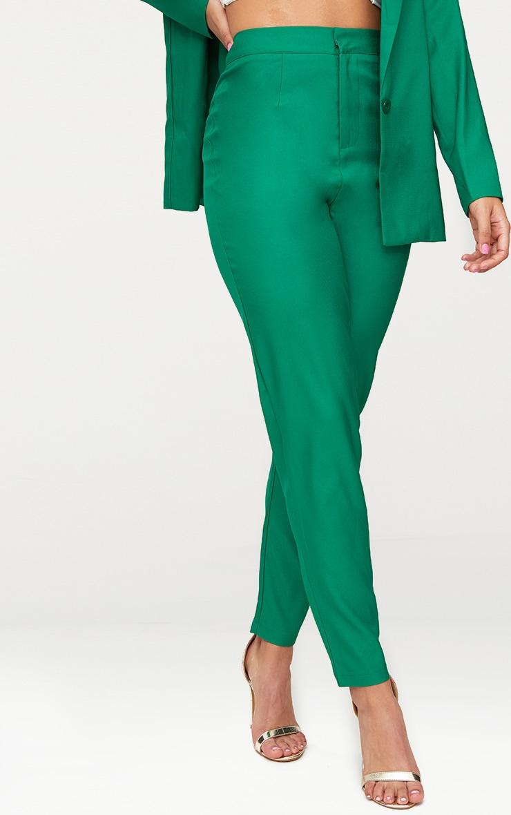 Bright Green Straight Leg Tailored Trouser 2