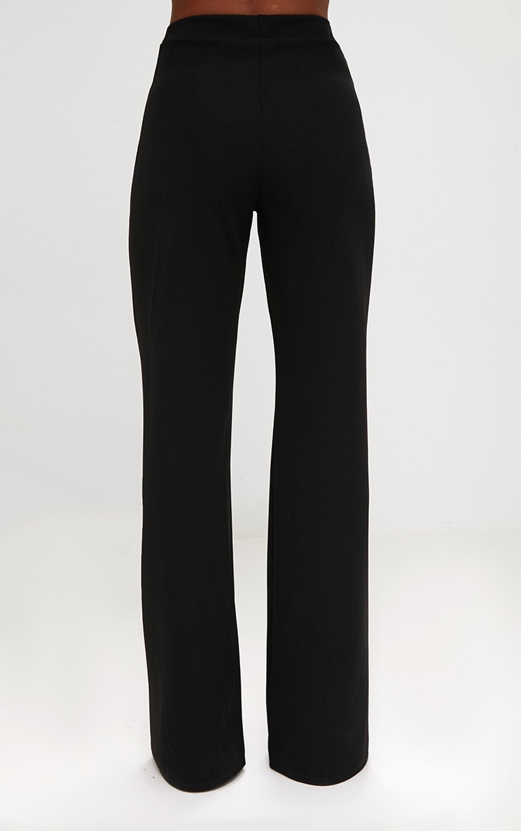 Black Front Seam Wide Leg Trousers 2