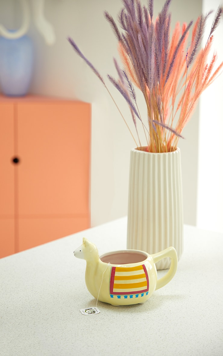 Cream Llama Mug 1