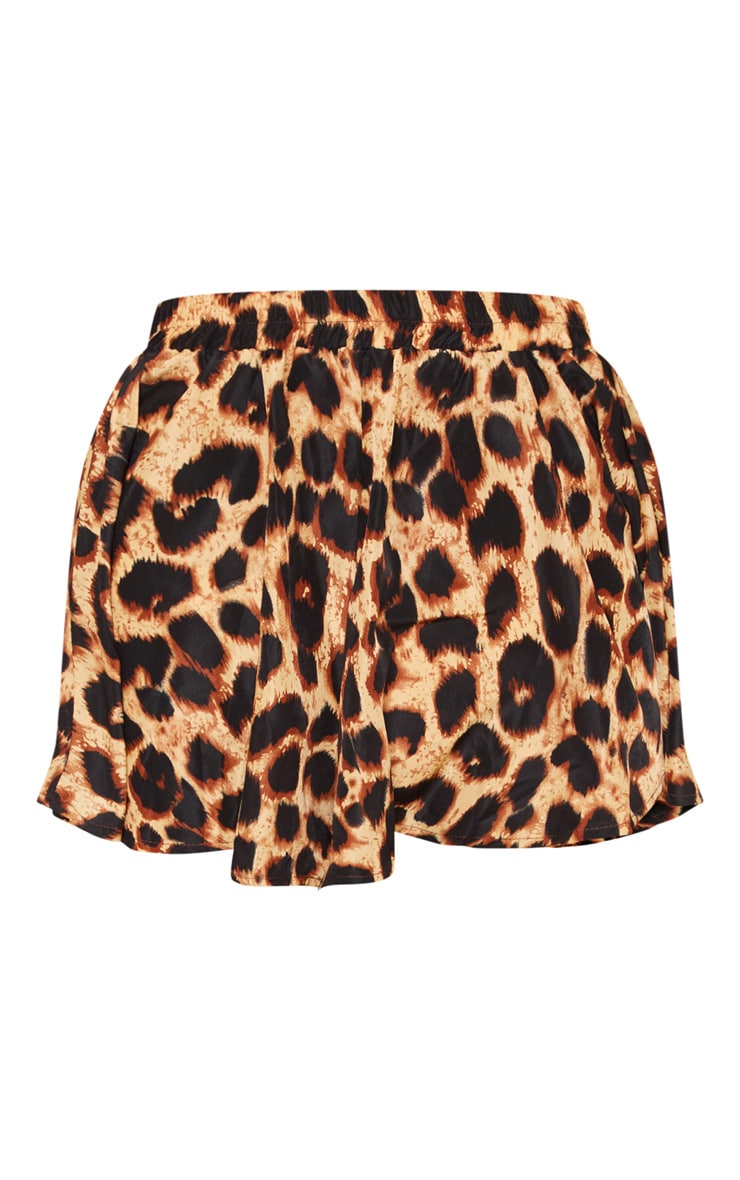 Lolita Brown Leopard Print Floaty Shorts 3