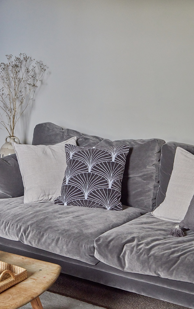 Charcoal Palermo Cushion Cover 1