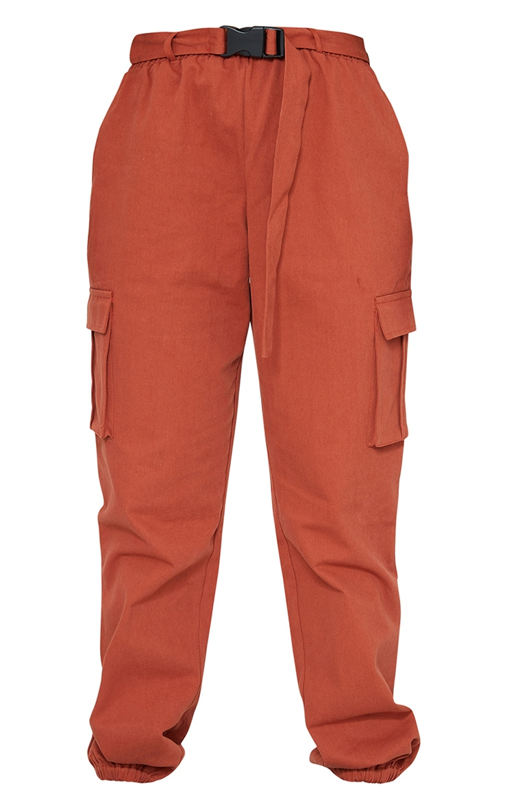 Rust Buckle Detail Cargo Pants 5