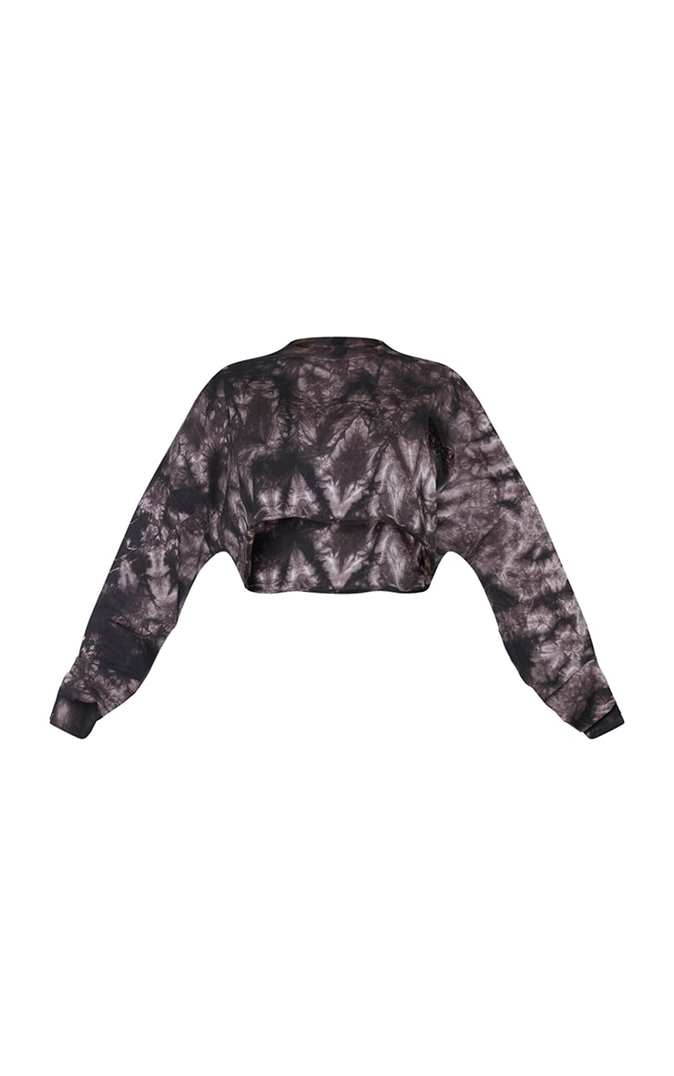 Shape Mauve Tie Dye Butterfly Embroidered Cropped Sweater 5