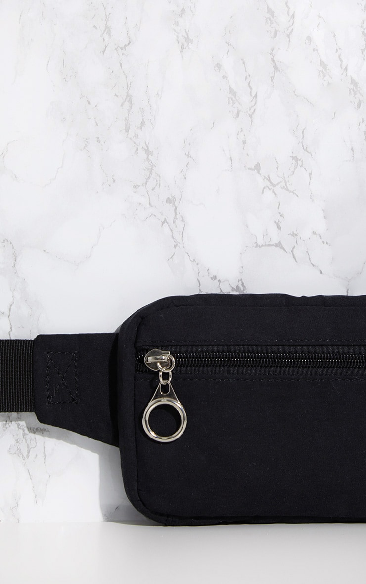 Black Soft Touch Bum Bag 5